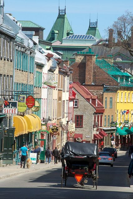 Our honeymoon hotel was on this street! I can't believe how strong the memories are. I feel like I could jump into this photo and stroll around! Quebec City, Canada.