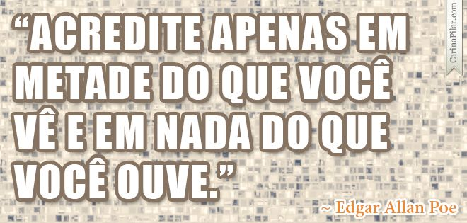 Quote do Edgar Allan Poe