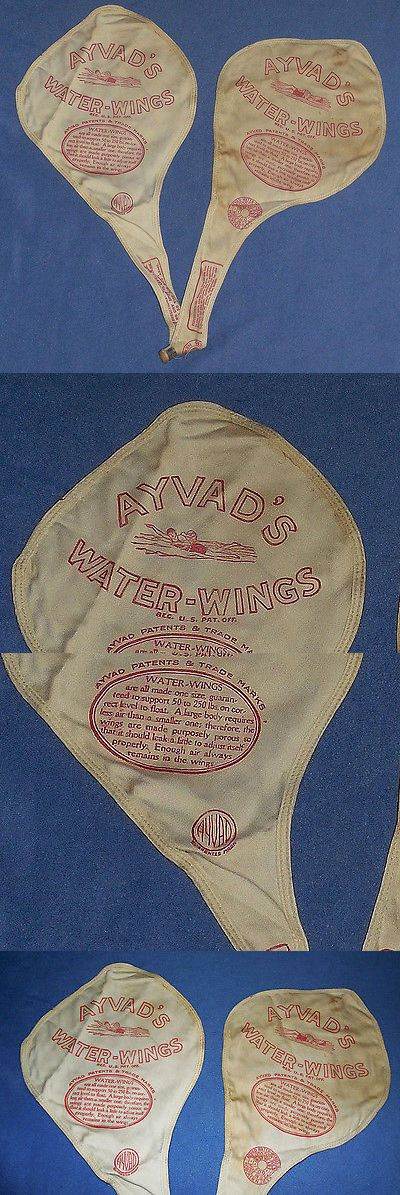 Training Aids 159175: Vintage Ayvads Cloth Water Wings Flotation Swimming Aid - Red Graphic - Nos -> BUY IT NOW ONLY: $50 on eBay!