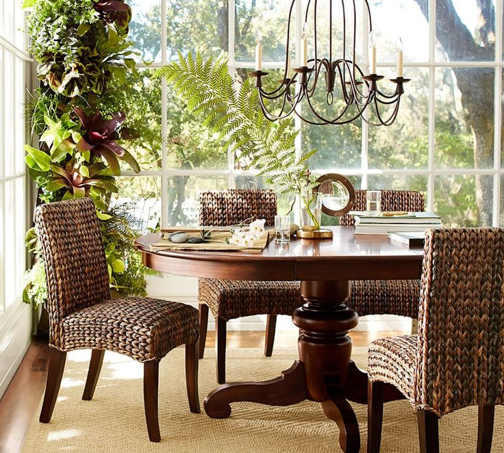 Tivoli Extending Pedestal Dining Table - Tuscan Chestnut Stain