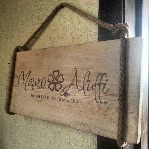 Insegne targhe in legno pirografate personalizzate grazie for Targhe decorative in legno