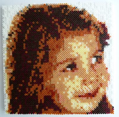 How to convert a favourite photograph into a pattern for Hama or Perler beads - or even a cross-stitch pattern.    Use Photoshop to make an easy to follow grid pattern.