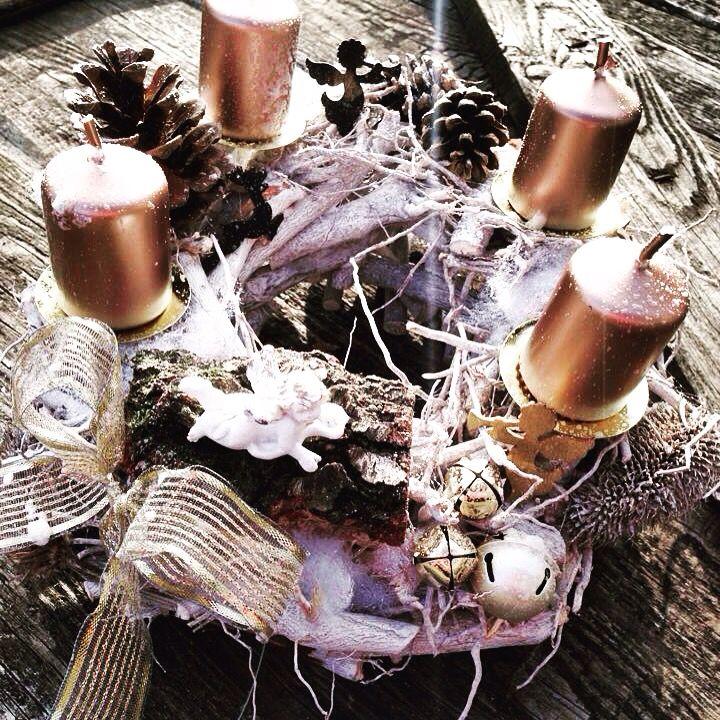 Luxury advent wreath by Bella wood