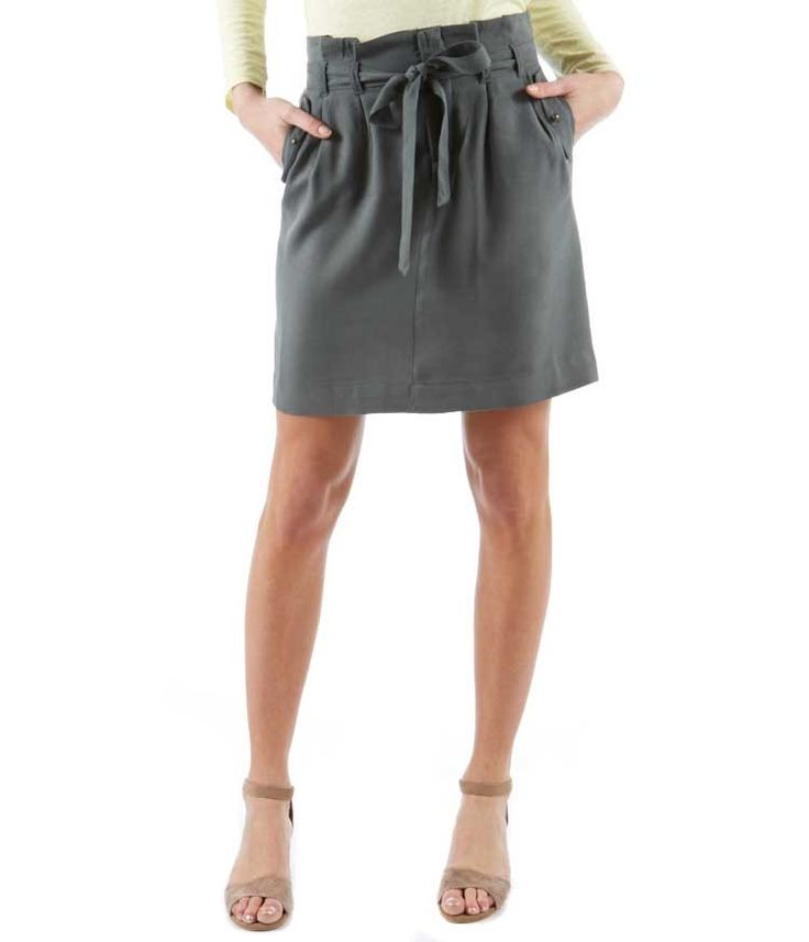 Damska spódnica chino z tencelu