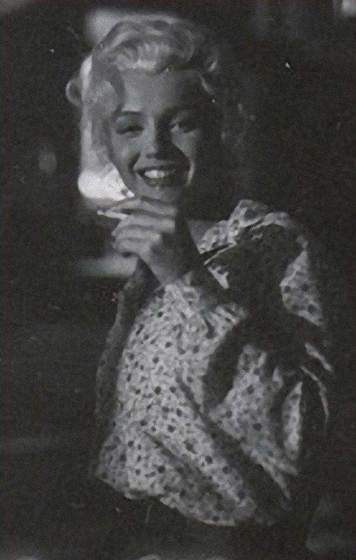 "Marilyn on the set of ""River Of No Return"". Photo by Milton Greene, 1954. And before everyone gets their balls in an uproar over the cigarette, smoking was not on a par with murder then, as it is now."