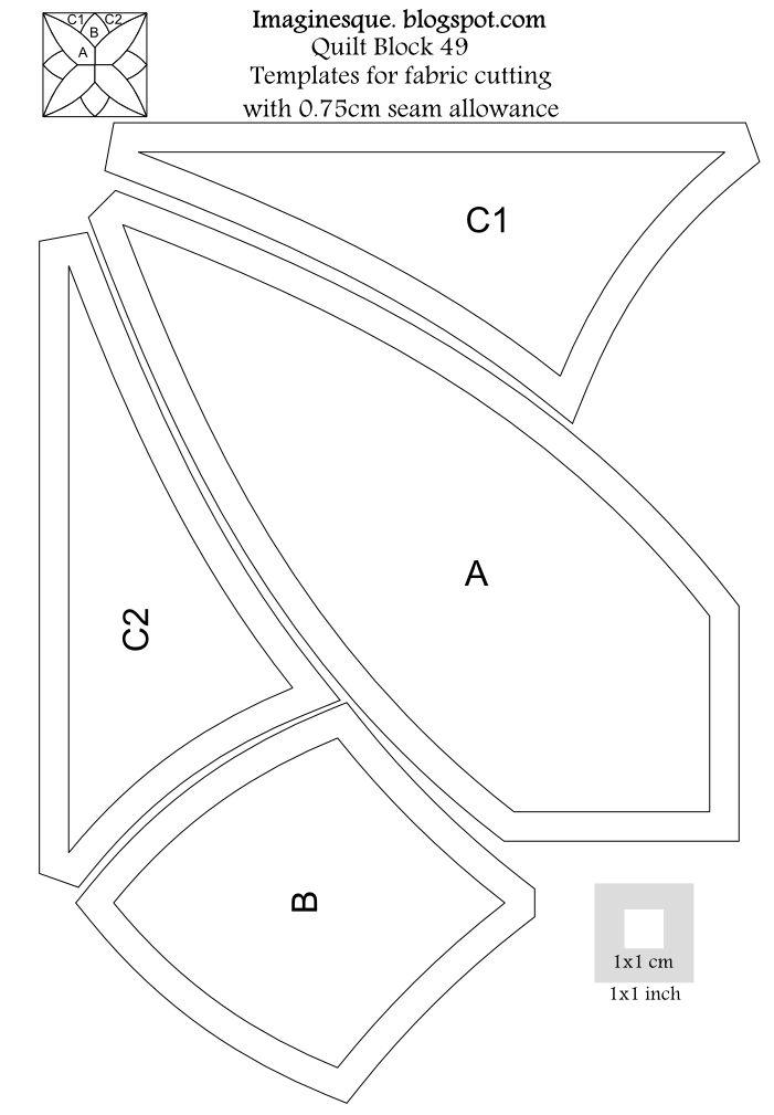 imaginesque patrones libres del bloque del edredón y plantillas