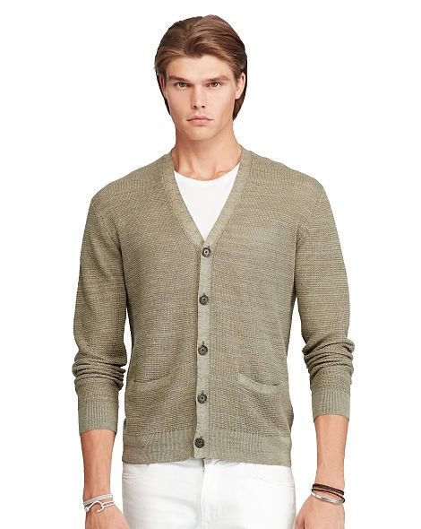 Polo Ralph Lauren Linen Silk V-Neck Cardigan Sweater