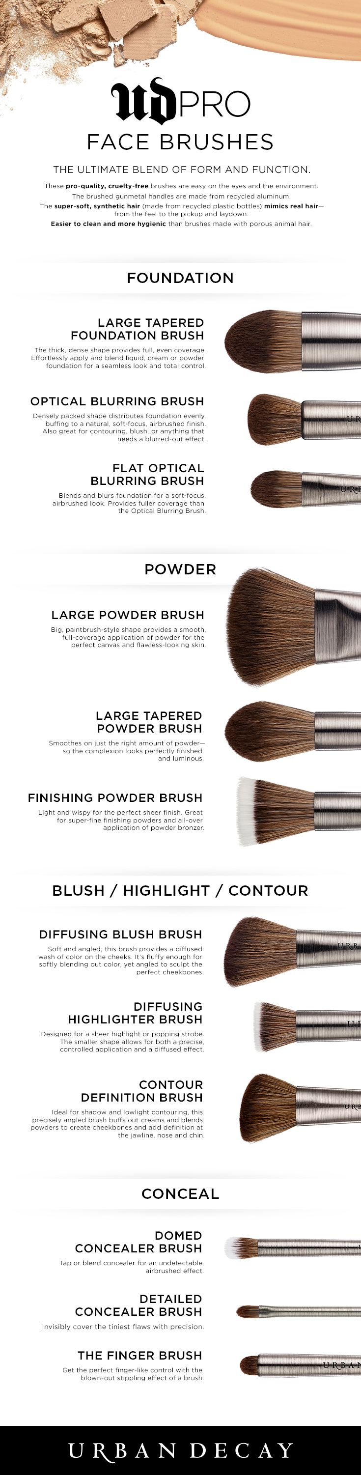From Foundation and Powder to Blush and Highlight, we've got a UD Pro Brush for…