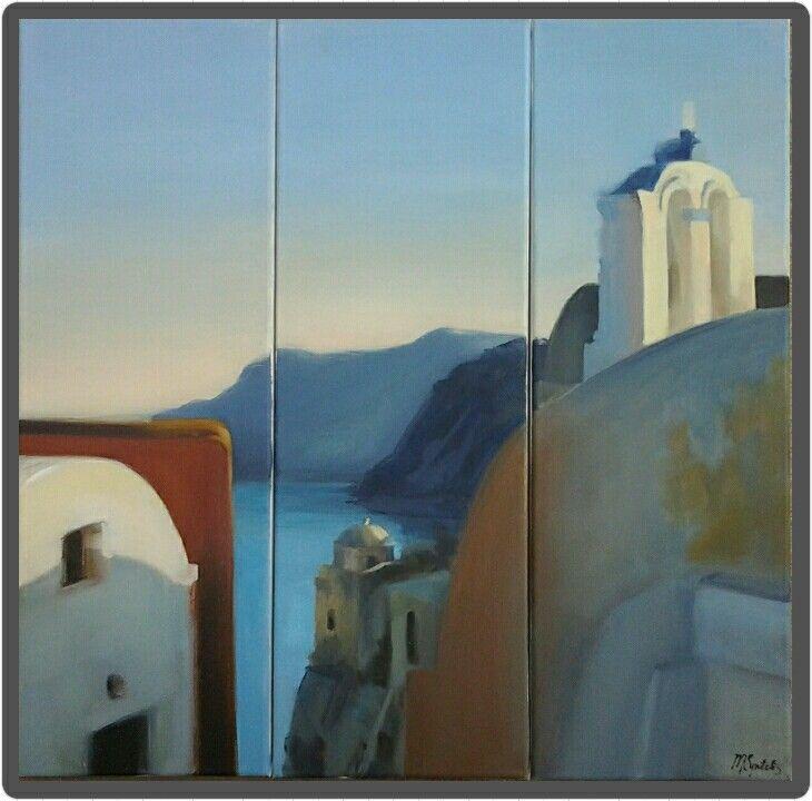 Oil on canvas, 3 pieces 20x60cm, 2014
