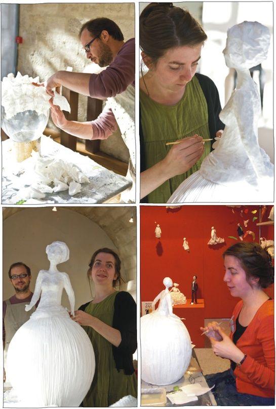 The artists: Sophie Mouton-Perrat & Frédéric Guibrunet - paper sculptors
