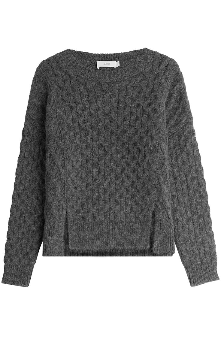 Knit Pullover with Alpaca detail 0