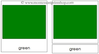 Color Cards - Montessori 3-Part Classified Cards - Printable Montessori Materials for home and school.