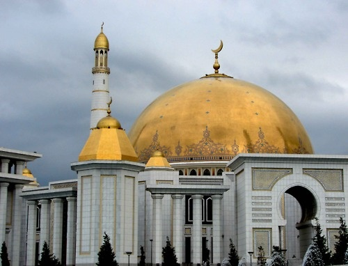 The Kipchak Mosque in Ashgabat, Turkmenistan