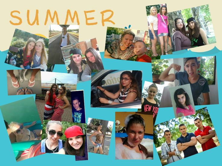 A montage about summer: the best moments of my student's holiday--bringing the group together!