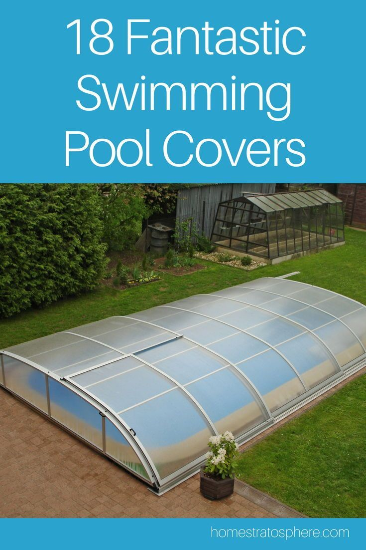 Swimming Pool Ideas: A retractable dome with hinged arms is a unique ...