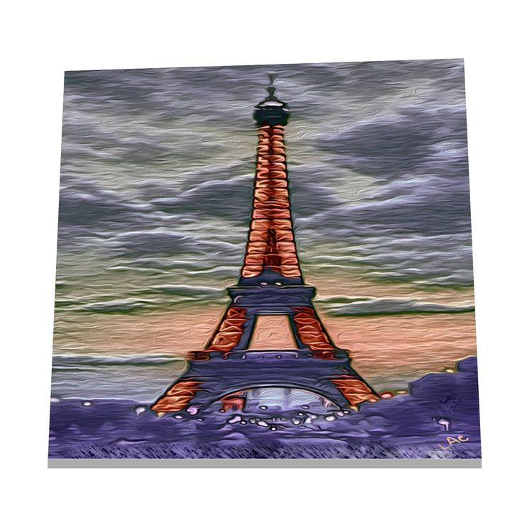 Eiffel Tower - Ceramic Trivet / Decorative Tile  -  2 sizes by DoggyLips on Etsy