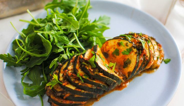 Courgette Hasselback