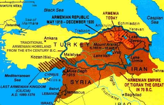 The present-day Republic of Armenia occupies but a fraction of ancient Armenia...