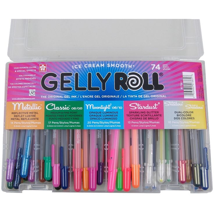 Sakura Gelly Roll Pens Gift Set 74/Pkg-, Grey metallic