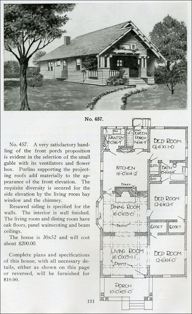 Standard Little Bungalow Henry Wilson 1910 Small House