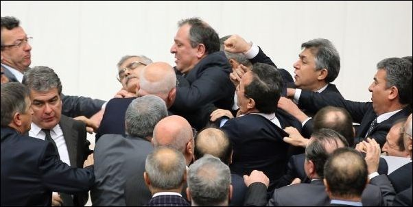 This picture represents fighting between the Montagues and the Capulets.