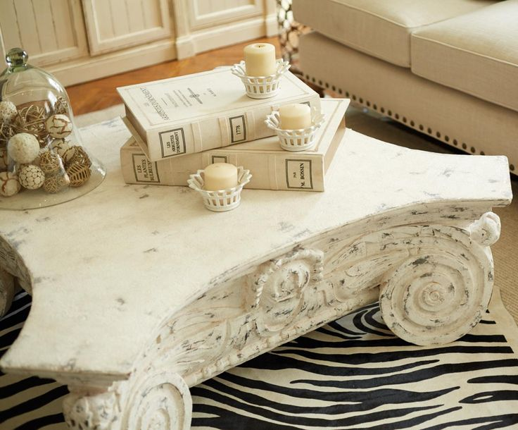 Cullen 52 Coffee Table In White