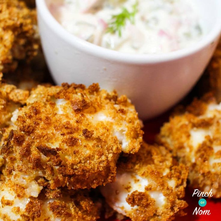 There is something very indulgent about these Low Syn Monk Fish Bites with Tartar Sauce. For the full list of ingredients and comprehensive instructions, please see the recipe card at the end of this post. Before you scroll, there's important stuff in the blurb 👍 Monk fish is pretty pricey, but being a girl who…