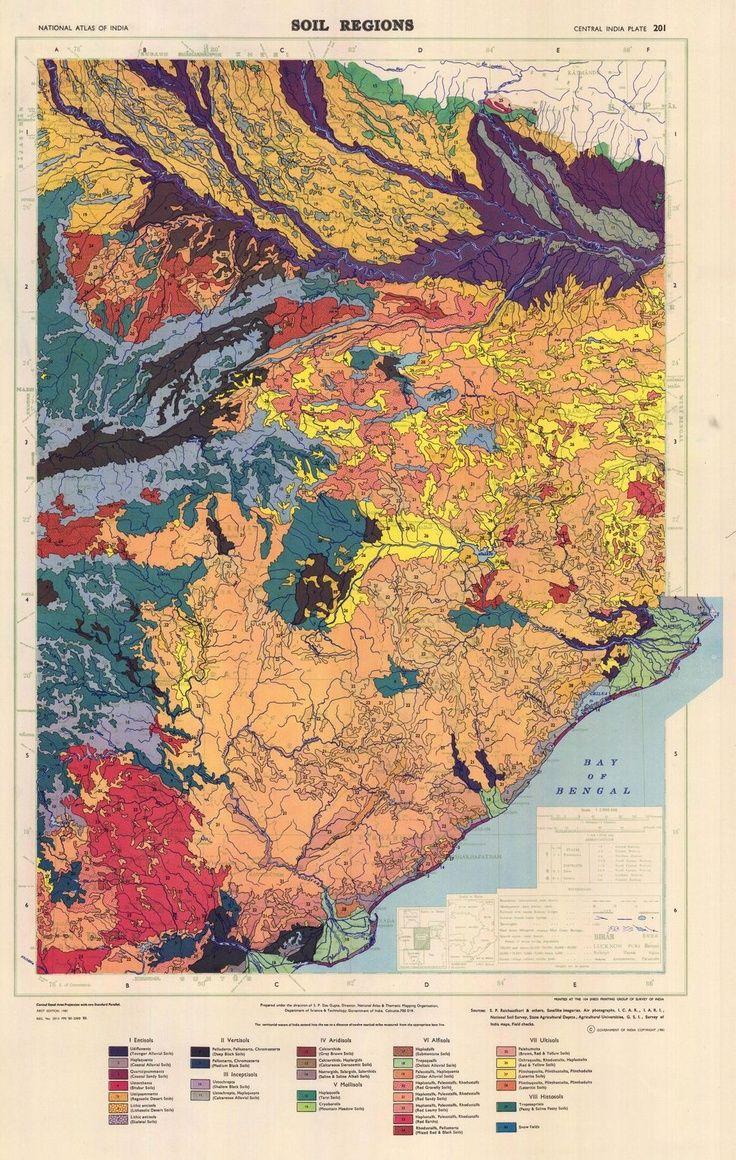 Soil regions of central India Soil region