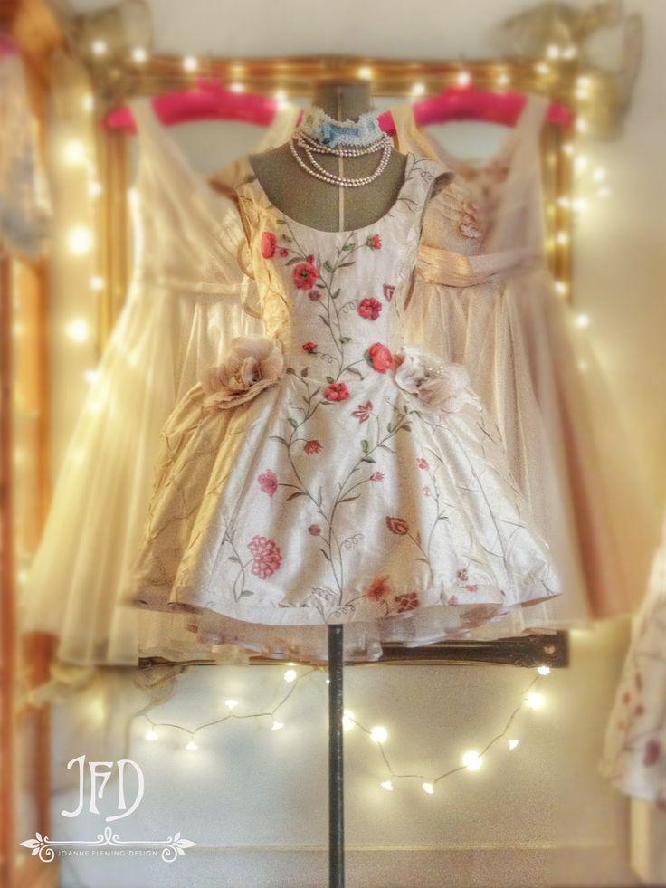Joanne Fleming Design; 'Let Them Eat Cake'  pale pink mini-crini tutu with silk ribbon embroidery
