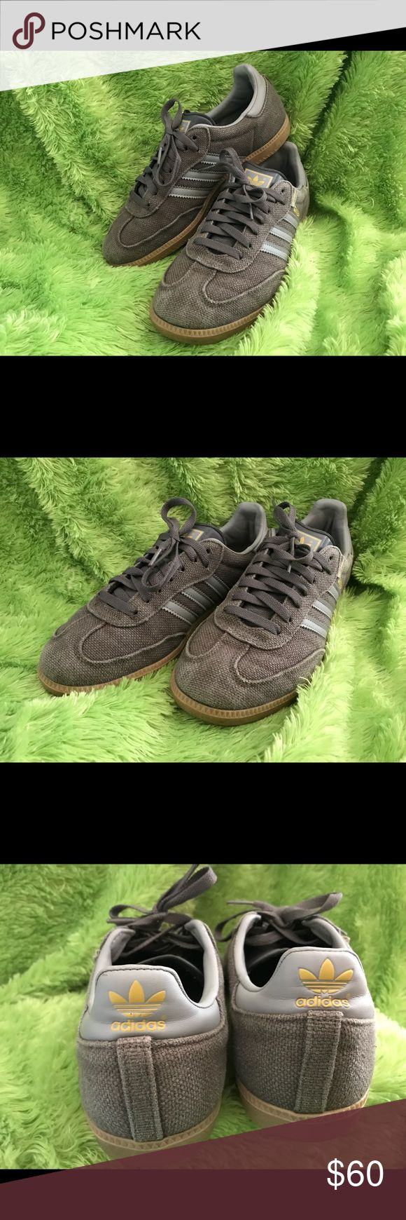 ❥ vintage RARE adidas sambas Men size US 8 / 9.5 womens  I'm a size 8 in womens however, and they still fit perfectly. 10/10 condition, no flaws what so ever! US shipping only! ♡   #adidas #vintage #rare #olivegreen #grey #samba #hipster #90's #shoes #sneakers adidas Shoes Sneakers