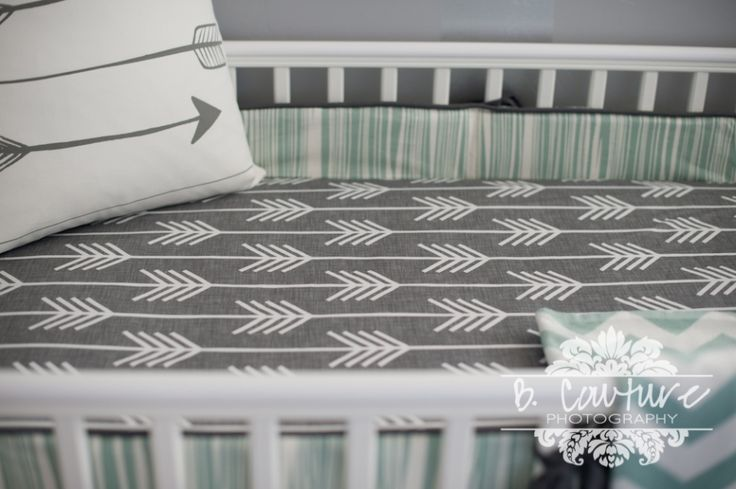 1304BABY BOY ROOM004 BABY BOY NURSERY SNEAK PEAK...Grey and Mint Arrow Themed Nursery