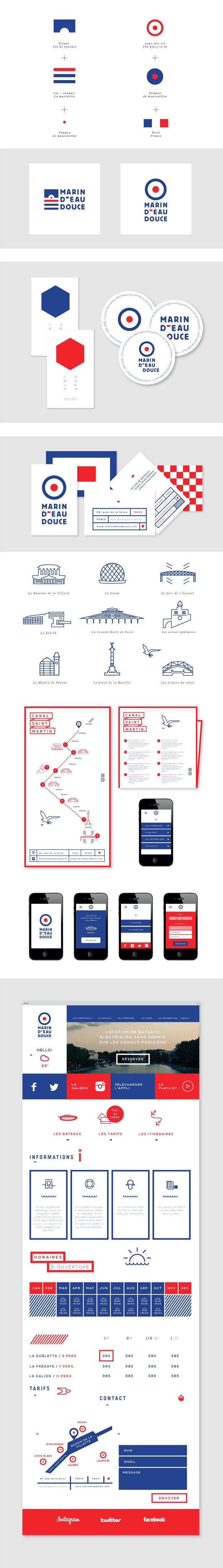 Projet d'identité graphique de la startup Marin d'eau douce - #identity #graphic #design