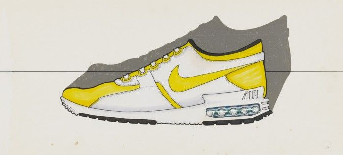 The new Nike Air Max Zero is based on this 1980's sketch