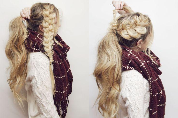 nice 50 Идей, как сделать красивый хвост на длинные волосы — Новые идеи привычной прически (фото)