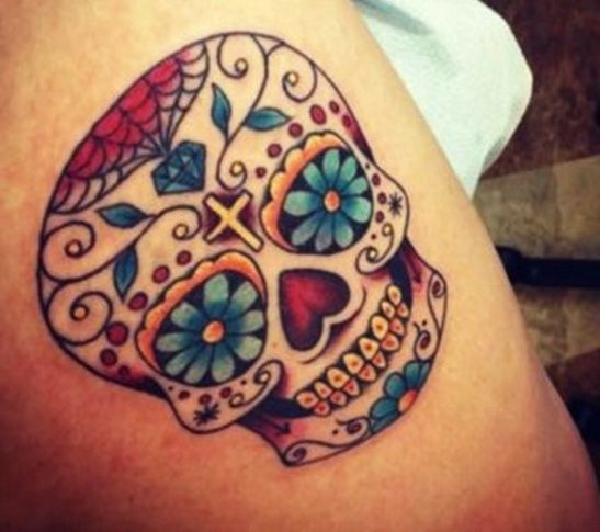 mexican skull tattoo - Google Search