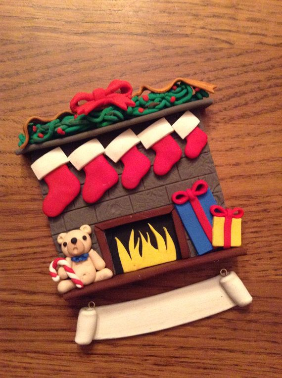 Customizable Polymer Clay Christmas by SavanasClayCreations, $14.99