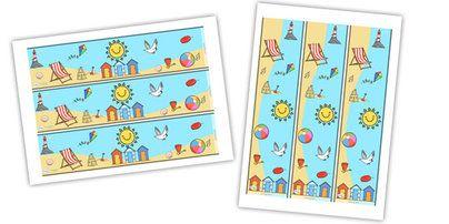 Twinkl Resources >> Seaside Display Borders  >> Classroom printables for Pre-School, Kindergarten, Primary School and beyond! Seaside, Display border, classroom border, border, water, tide, waves, sand, beach, sea, sun, holiday, coast,