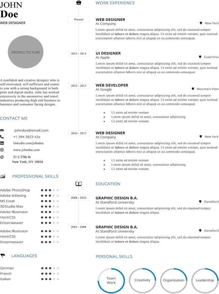 CV Пример 14 Infographic resume, Infographic resume