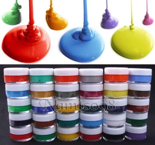 Set-Of-30-X-7ml-Assorted-Colors-Acrylics-Art-Painting-Bottle-Canvas-Paper-Fabric