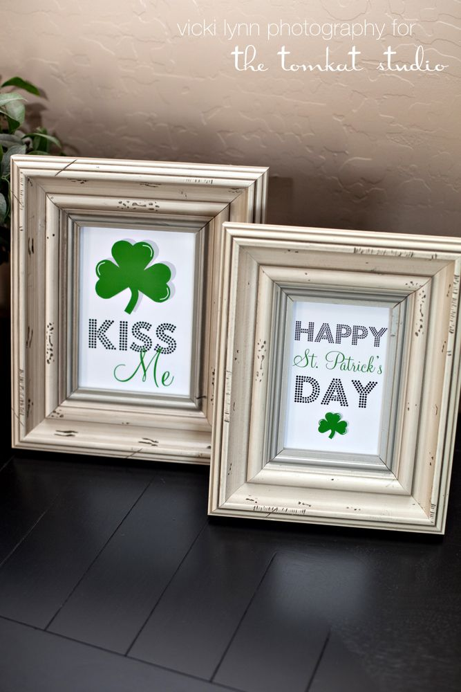st patty's printables- never can find cute St. Patty's decor, so why not make it! Love it!