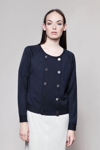 MASKA Sonya double-breasted cardigan | 100% extra fine Merino wool | Knitted in Latvia www.maska.se