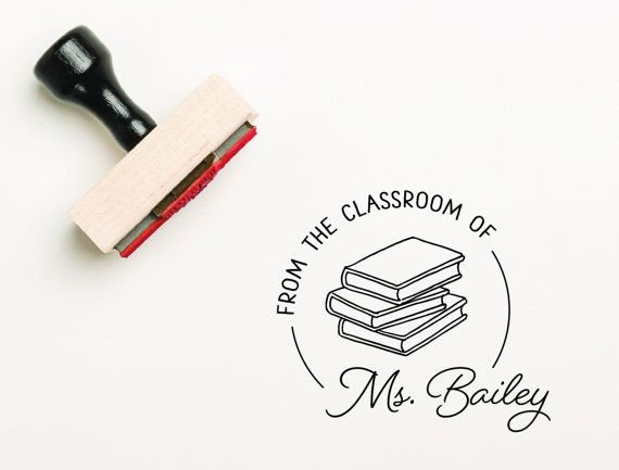 From The Classroom Of rubber stamp OR self-inking stamp. Teacher stamp.  C U S T O M I Z A T I O N * choose your size and add to cart * add all your personalized text in the Notes to Seller box at checkout * make sure to double check your spelling - we copy and paste directly from your notes! * proofs are not automatically issued, but are available upon request. S I Z E S * please choose your size from the dropdown menu on the right called Sizes / Prices * all sizes are in inches. * all…
