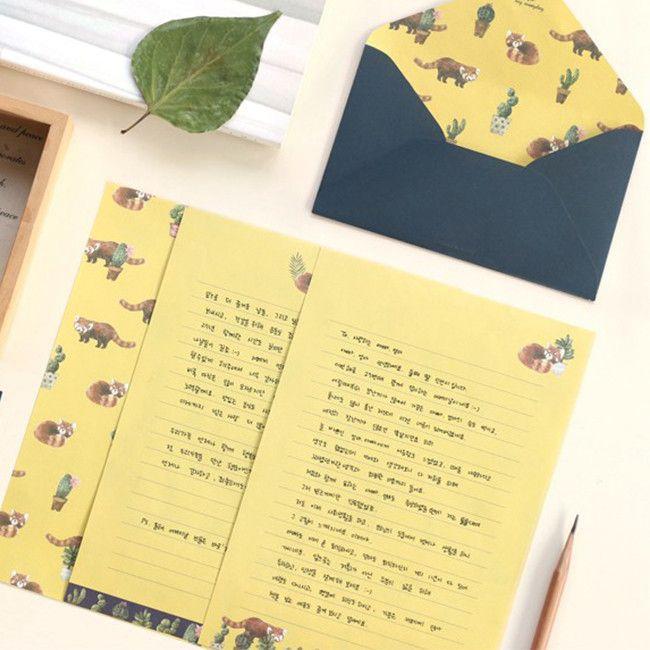 Iconic Pattern Letter Set / Red Panda