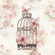Transfert gratuit Shabby La cage aux papillons