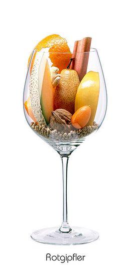 Descrição aromática da variedade: ROTGIPFLER: Birne, Orange (Schale), Quitte…