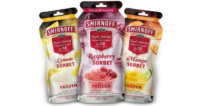 Smirnoff Sorbet frozen alcoholic drinks from Diageo