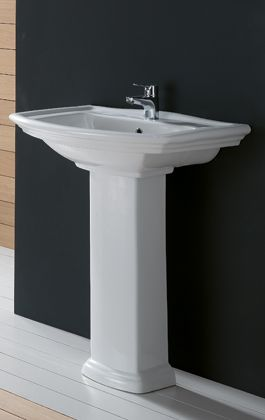 Washington Vitreous China Bathroom Wall Basin With Pedestal