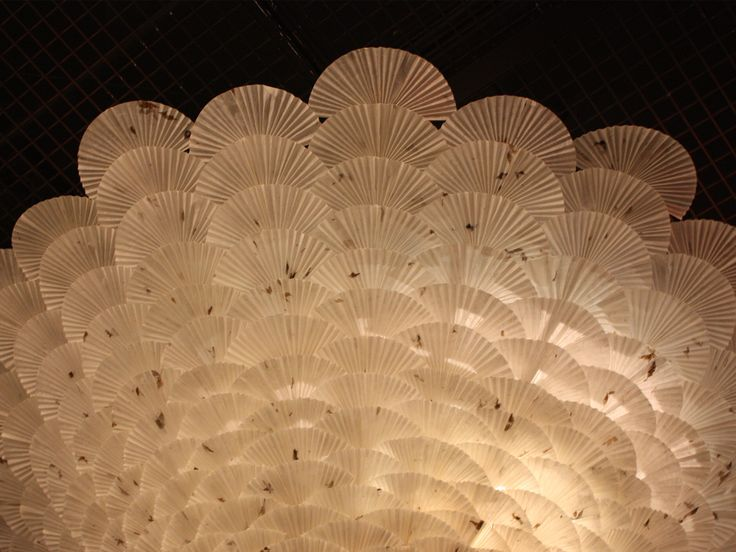 PAPER FAN COLUMN PAVILLION  #pavillion #unkind