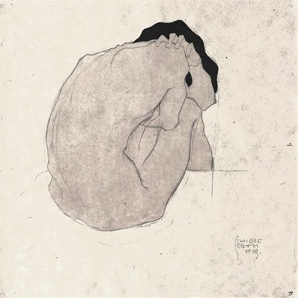 © Egon Leon Rudolf Schiele - Nudo (1910)