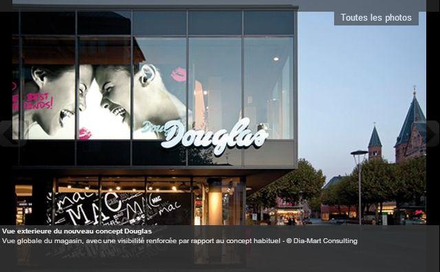 Douglas, le leader allemand et européen de la parfumerie (Nocibé)  http://www.lsa-conso.fr/le-concept-etranger-a-decouvrir-douglas-ou-le-digital-vraiment-au-service-de-l-experience-client,170754